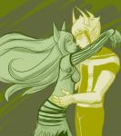 ancestors hug koorii limited_palette near_kiss shipping the_disciple the_psiioniic worshipping