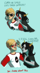 comic coolkids dave_strider glassesswap mousyviolence shipping terezi_pyrope text