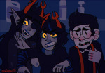 blood demigosh homestuck^2 panel_redraw tavros_crocker vriska_maryam-lalonde vriska_serket