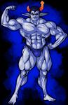 equius_zahhak musclestuck no_shirt rlyrlybigman solo swimsuit zodiac_symbol