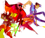 beta_kids breath_aspect dave_strider dogtier godtier heir jade_harley john_egbert knight light_aspect rose_lalonde sburb_logo seer space_aspect steakbatter time_aspect witch