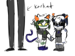 artfucker64 equius_zahhak height_chart holding_hands karkat_vantas meowrails nepeta_leijon