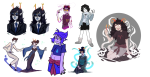 aradia_megido art_dump blood con_heir dancing dead_aradia dream_ghost empiricist's_wand eridan_ampora fashion feudal_japan formal hilaletto joey_claire john_egbert redrom shipping skulls steven_universe vriska_serket