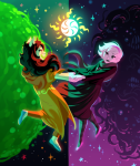 aspect_symbol clothingswap cosplay dogtier godtier green_sun guns_and_roses horrorterrors jade_harley light_aspect rose_lalonde seer shipping space_aspect stars witch xamag