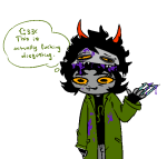 action_claws blood decapitation gamzee_makara gore nepeta_leijon newtypehero no_hat solo transparent word_balloon