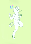 ! casual highlight_color monochrome nepeta_leijon solo v23