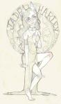 animal_ears art_nouveau barefoot fashion formal highlight_color jade_harley littlebirdkisses solo text