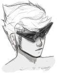 acornbunny dirk_strider freckles grayscale headshot sketch solo