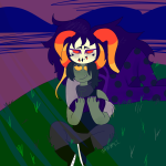 arm_around_shoulder chahut_maenad charun_krojib clouds hiveswap illumimeepi shipping sitting