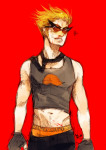 blood dirk_strider heart mabychan nosebleed solo strong_tanktop