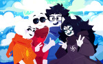 413 beta_kids dave_strider jade_harley john_egbert nekurothings rose_lalonde