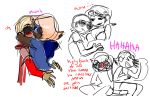 blush dave_strider godtier incest kiss knight parent_trap redlament redrom rogue roxy_lalonde shipping time_aspect undergarments void_aspect