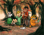 adventure_time autumn becomedog casual crossover lusus tavros_nitram tinkerbull wheelchair