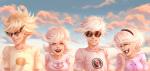 clouds dave_strider dirk_strider headshot merorine rose_lalonde roxy_lalonde starter_outfit strilondes