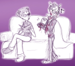 blackrom blood couch eridan_ampora erisol game_bro limited_palette loscomicos shipping sollux_captor spade