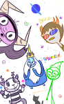 adventure_time bees cats crossover dick_figures foster's_home_for_imaginary_friends happy_tree_friends sollux_captor stars wire