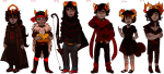 arms_crossed bow fantroll height_chart signiess the_finger transparent