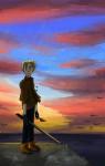 clouds dirk_strider freckles no_glasses ocean seagulls solo unbreakable_katana yuksi