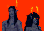 artificial_limb equius_zahhak lipstick_stains neigh8ors no_glasses redrom scoundrel shipping vriska_serket