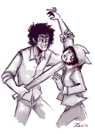 battle_royale blood crossover gamzee_makara highlight_color humanized insane_clown_pussy nepeta_leijon zero