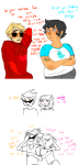 arms_crossed blush chubstuck comic dave_strider dirk_strider godtier jane_crocker knight minute_maid redrom roxy_lalonde shipping starter_outfit strideer time_aspect