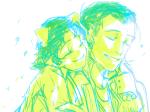 bromance crossover hug kkyureu marvel nepeta_leijon no_hat the_avengers