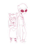 arms_crossed blush dave_strider deleted_source dogtier godtier jade_harley knight loki shipping size_difference space_aspect spacetime time_aspect witch