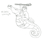 andrew_hussie cast_iron_horse_hitcher lineart lusus seahorsedad wateven