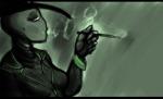 bq headshot kompepperochu limited_palette profile smoking snowman solo