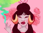 blood damara_megido dancestors drug_use flowers headshot jawd nosebleed smoking solo