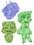art_dump cat-pun disney freckles gorillaz headshot inside_out nepeta_leijon pixar