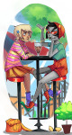 animals beverage blurred_vision casual disteal fashion hat roxy_lalonde terezi_pyrope trees