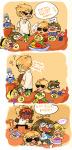 babies beta_kids beverage bro comic crab_apple dave_strider eureka_lemon food jade_harley john_egbert key_lime mandarin_orange no_hat rose_lalonde starnoodle word_balloon
