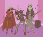 dave_strider dogtier godtier instrument jade_harley karkat_vantas kats_and_dogs knight microphone mindhoney multishipping music_note red_knight_district shipping space_aspect spacetime time_aspect timetables turntables witch