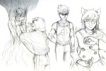 ancestors art_dump dirk_strider dogtier godtier grayscale jade_harley pencil planets sketch space_aspect strong_tanktop the_psiioniic the_sufferer tsyndromestuck witch