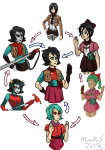 attack_on_titan crossover dragonball_z dragonhead_cane fusion hexafusion legislacerator_suit mcwuffles meme terezi_pyrope