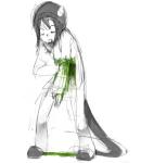 au blood cycli highlight_color monochrome nepeta_leijon no_hat solo trollcops