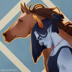 animals chocolatula equius_zahhak horses no_glasses solo