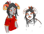ampora-of-hearts art_dump blush damara_megido dancestors dream_ghost sketch solo