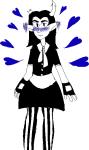 blush crossdressing equius_zahhak heart no_glasses punkkind solo