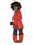 arms_crossed au coraline crossover humanized karkat_vantas laika solo strider-vevo transparent