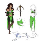 animals au character_sheet jade_harley no_glasses scalestuck solo weapon wolfpainters