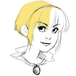 artist-in-training headshot highlight_color rose_lalonde sketch solo