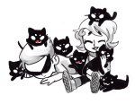 cats dirk_strider highlight_color hug meowcats request roxy_lalonde zhen