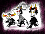 crablouse crossover gamzee_makara halloweenstuck hat nsfwsource rubber_horn tavros_nitram terezi_pyrope the_nightmare_before_christmas