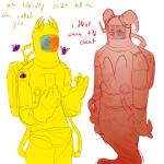 among_us aradia_megido bees crossover dead_aradia marimocrab sollux_captor text