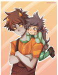 arms_crossed disney ikimaru john_egbert karkat_vantas size_difference wreck-it_ralph