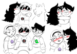 becquerel beta_kids blush dave_strider guns_and_roses hammertime hug jade_harley john_egbert redrom rose_lalonde shipping starter_outfit super-cool-alpha-male