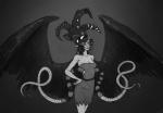 beetleneedle black_queen bq grayscale humanized solo