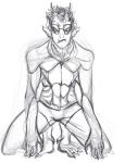barefoot eridan_ampora mulattafury sketch solo undergarments wip